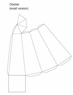 Printable Decorative Obelisk Template - use to make cardboard Obelisks & then decoupage, paper mache' or apply a faux stone texture using joint compound or texture paint!