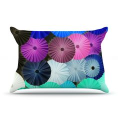 "Heidi Jennings ""Graceful"" Purple Teal Pillow Case"