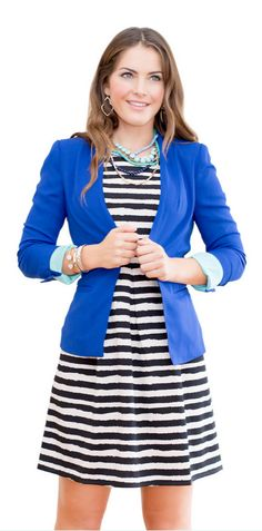 This look from Stitch Fix is everything. I love that it can be dressed up or down. That blue blazer is perfection. This might be the perfect outfit.