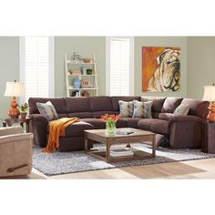 La-Z-Boy Reese Six Piece Power Reclining Sectional Sofa w/ RAS Chaise