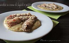 Canocchie su crema di fagioli e patate (Secondi di pesce -Antipasti caldi)