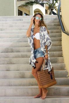To the beach: kimono cover up beach outfits women vacation, mexico beach outfits, Mexico Beach Outfits, Beach Outfits Women Vacation, Cute Beach Outfits, Pool Party Outfits, Summer Outfits Women, Summer Dresses, Sun Dresses, Outfit Beach, Summer Maxi