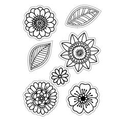 Elizabeth Craft Designs Clear Stamps are perfect for your next cardmaking, scrapbooking or paper crafting project. Just place the Clear Stamp onto an acrylic stamp mount and you're ready for quick and easy stamping! Easy Coloring Pages, Pattern Coloring Pages, Flower Coloring Pages, Flower Pattern Drawing, Butterfly Drawing, Henna Drawings, Cute Drawings, Mandala Doodle, Doodle Art
