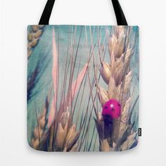 Tote Bag 13x13 16x16 18x18 Ladybird Tote Ladybug Tote by MGMart