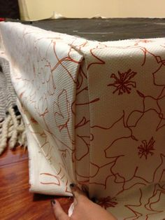 How to upholster a box spring.