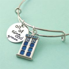 All of Time and Space Adjustable Bangle Bracelet - Spiffing Jewelry - Doctor Who