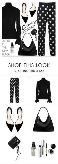 """""""Holiday Style: Cozy Chic"""" by helenevlacho ❤ liked on Polyvore featuring Guild Prime, Lanvin, Zara, Michael Kors, Guide London, Bobbi Brown Cosmetics, contestentry, cashmere, holidaystyle and backtoblack"""