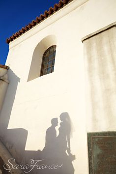 Serra Museum Wedding ~SARA FRANCE PHOTOGRAPHY~ Shadow. Bride and Groom. Just Married.