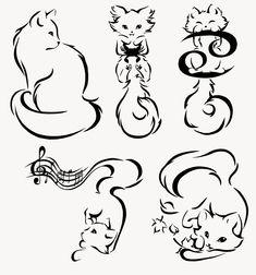 Minimalism Kitties Commission by manic-goose.deviantart.com on @DeviantArt