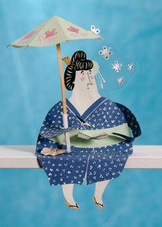 Obra del Artista ilustrador Malin Koort. Crea portadas de libros y muebles patrones, escribe e ilustrando cuentos, construyendo mundos de papel, hace pequeñas esculturas de papel.