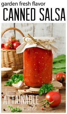 """This simple salsa recipe is a good """"beginner"""" recipe for home canning. Canning salsa is one of our favorite ways to preserve the summer tomato bounty from the vegetable garden."""