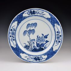 A Chinese Porcelain Qianlong Period Blue & White Willow Plate in Antiques, Asian/ Oriental Antiques, Chinese | eBay