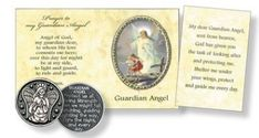 Pocket Token & Booklet - Guardian Angel Free Prayer Request, Special Words, Catholic Gifts, Prayer Cards, Inexpensive Gift, Christian Gifts, Booklet, Angel, Angels