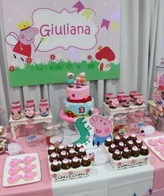 Amazing Peppa Pig birthday party! See more party planning ideas at CatchMyParty.com!