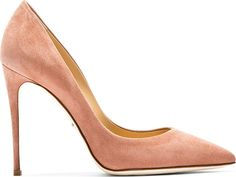 Rose Suede Pointed Pumps by Dolce & Gabbana