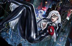 Hot Comic Babes — darkbeautysfw: Black Cat by Yasmine-Arts Marvel Dc, Marvel Comics Art, Marvel Women, Marvel Girls, Comics Girls, Marvel Heroes, Black Cat Marvel, Spiderman Black Cat, Amazing Spiderman