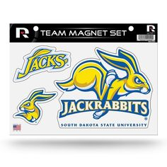 South Dakota State Jackrabbits Team Magnet Set, Multicolor