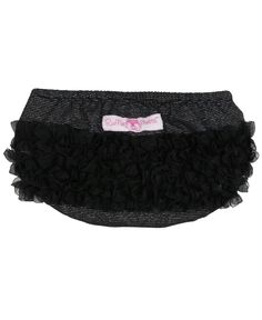 Black Glitter Knit RuffleButt / Diaper Cover...I had a pair of these in white when I was 2 y/o!!  Classic!  LOL
