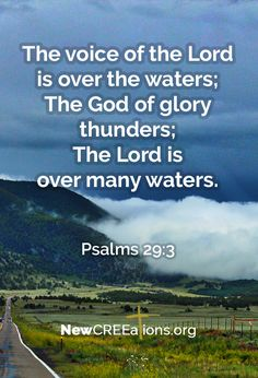 We need water. Without it we die, but too much is just as fatal. No matter how much rain falls in our lives God is still on the throne, trustworthy and true.