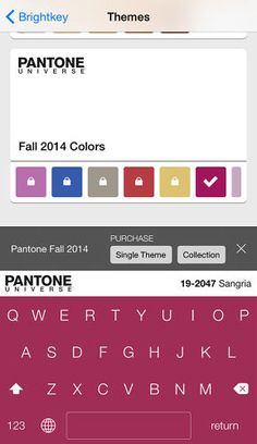 pantones ios keyboard lets you customize your iphone in 11 different colors designtaxicom