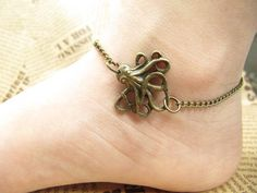 Octopus jewelry anklet steampunk antique jewelry Harry Potter anklet-Friendship Gift--Personalized anklet