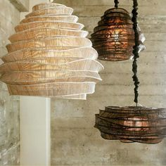Bamboo Cloud Chandeliers   Forma Living