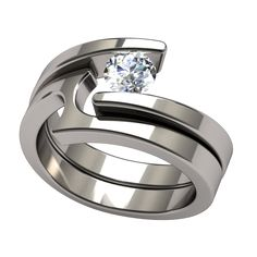 Etoile Round Companion | Titanium Rings, Titanium Wedding Bands, Diamond Engagement Rings