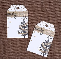 """""""Merry & Bright"""" Christmas Gift Tags"""