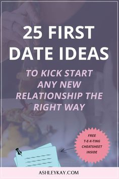 First Date Ideas | Date Ideas | Date Advice For Women | Click to read the 25 first date ideas to kick start any new relationship the right way.
