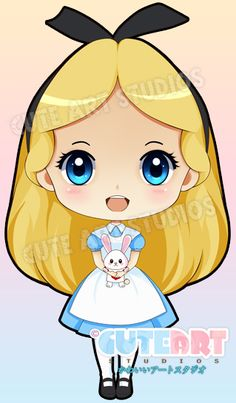 Chibi Alice and Mr. Rabbit by crowndolls on deviantART
