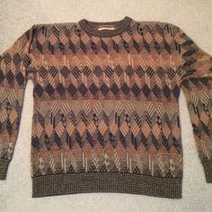 Oak & Clay Crewneck Multi-Color Sweater XL. Oak Clay Crewneck Multi-Color Knit Pullover Sweater XL. 65% Cotton, 35% Acrylique. Made in the U.S.A. Oak & Clay Sweaters Crew & Scoop Necks