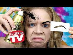 SPRAY PAINT EYEBROWS! - DOES THIS THING REALLY WORK? - YouTube