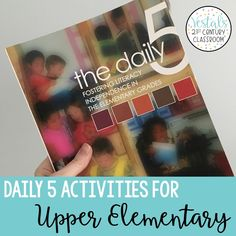 Are you wanting to use Daily 5 in your upper elementary classroom? In   this post, you will find lots of great Daily 5 activities and tips to   help you successfully run Daily 5 in an upper elementary classroom!  #vestals21stcenturyclassroom  #daily5  #daily5upperelementary  #daily5ideas