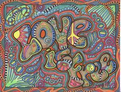 Love is free Singleton hippie art The Original by justgivemepeace