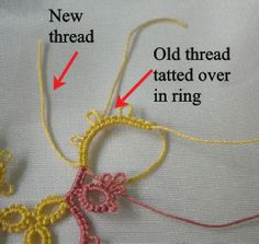 How to add New Thread Without Tying a Knot- Tatting Tutorial