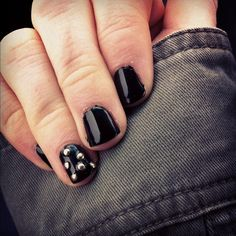 studded nails...