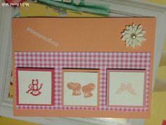 Stampin Up Babykarte zur Geburt, Zoo Babsies, Frühlingsgefühle, Baby Card