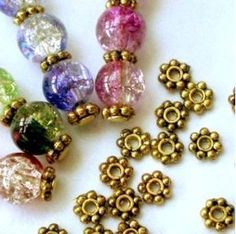 Amazon.com: 200pcs Antique Gold Daisy Spacer Metal Beads 4mm ~Jewelry Making: Arts, Crafts & Sewing