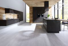 ALNOSTAR CERA - the new ceramic kitchen from ALNO UK in Oxide Nero