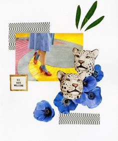 another collage using materials from @voguemagazine