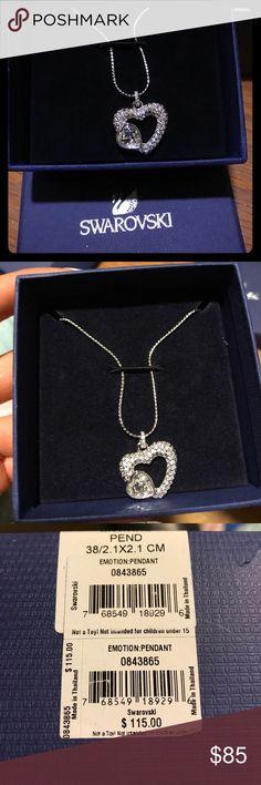 Swarovski Heart Pendant Brand new never worn pendant. Received as gift, did not wear. Original price $115+tax Swarovski Jewelry Necklaces