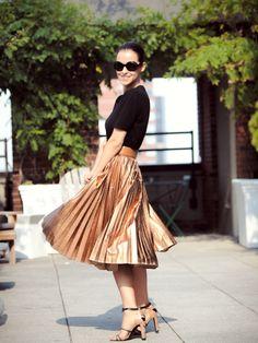 bittersweet colours : metallic skirt
