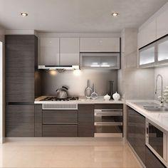 New kitchen interior design modern floors ideas Classic Kitchen, Rustic Kitchen, New Kitchen, Kitchen Modern, Kitchen Ideas, Kitchen Grey, Kitchen Small, Small Kitchens, Minimalistic Kitchen