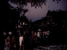 The nightly lighting up of Disneyland, 1960's.