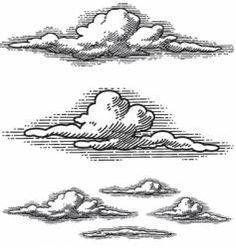 Woodcut Clouds Vector Images (over Vexx Art, Ink Art, Cloud Drawing, Painting & Drawing, Angel Drawing, Cloud Art, Drawing Sketches, Art Drawings, Tattoo Sketches
