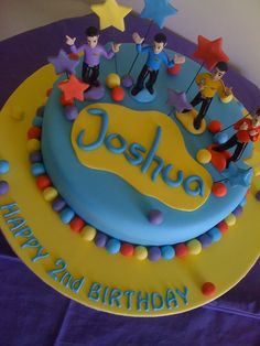 Wiggles Cake Wiggles Birthday, Wiggles Party, Happy 2nd Birthday, Twin Birthday, 2nd Birthday Parties, Birthday Cake, Birthday Ideas, Wiggles Cake, The Wiggles