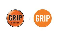 GRIP Limited: Rebrand by Carolina Veliz, via Behance
