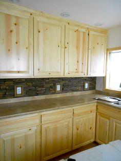 Slikovni rezultat za  Knotty Pine Kitchen Cabinets