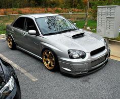 Slammed Subaru WRX STi love this color