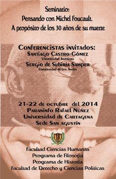 """Seminario """"Pensando con Michel Foucault"""". #Unicartagena #CienciasHumanas #Filosofía #Derecho"""